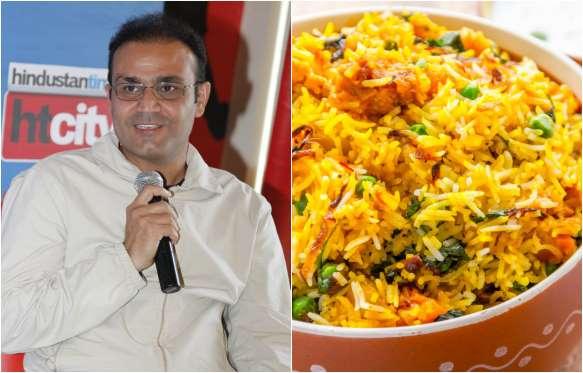 Virender Sehwag favorite dish is Biryani