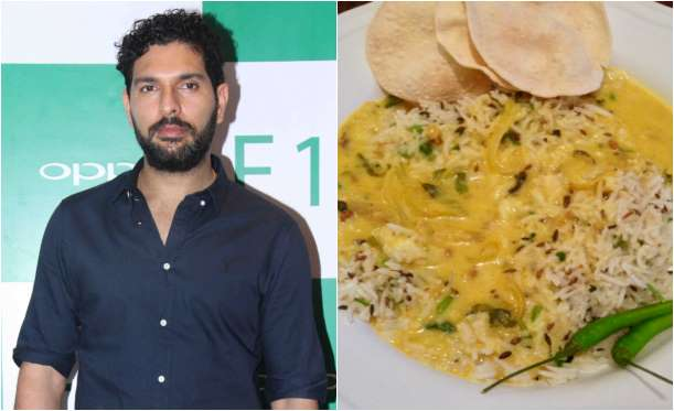Yuvraj Singh Favorite foods are Matar Paneer and Kadhi-chawal