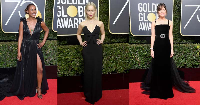 2017 Golden Globes Wear Black