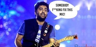 "Arijit Singh Yells ""Somebody Fking Fix This Mic"