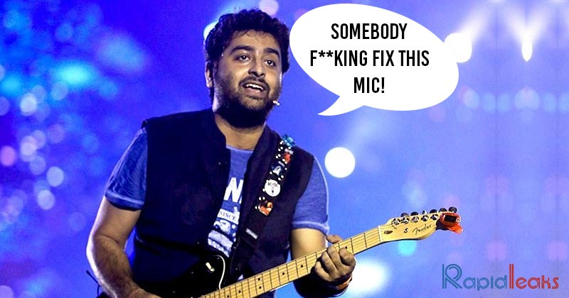 "Arijit Singh Yells ""Somebody Fking Fix This Mic"