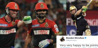 Brendon McCullum Excited About Joining Virat Kohli and AB de Villiersa