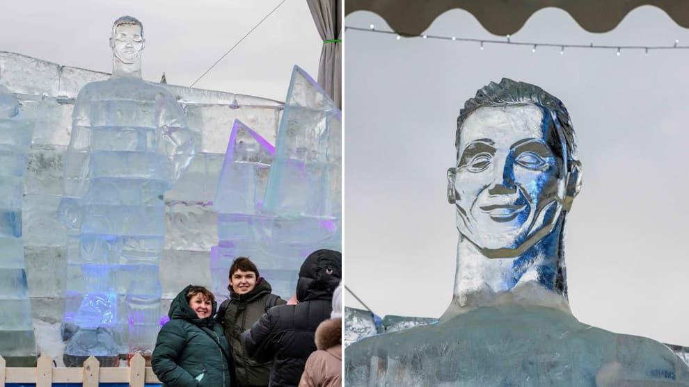 Cristiano Ronaldo's Ice Sculpture (1)