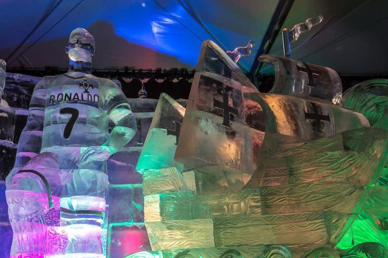 Cristiano Ronaldo's Ice Sculpture (3)