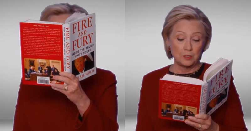 Hillary Clinton Read Excerpts From 'Fire And Fury', And All That Happened At 2018 Grammy