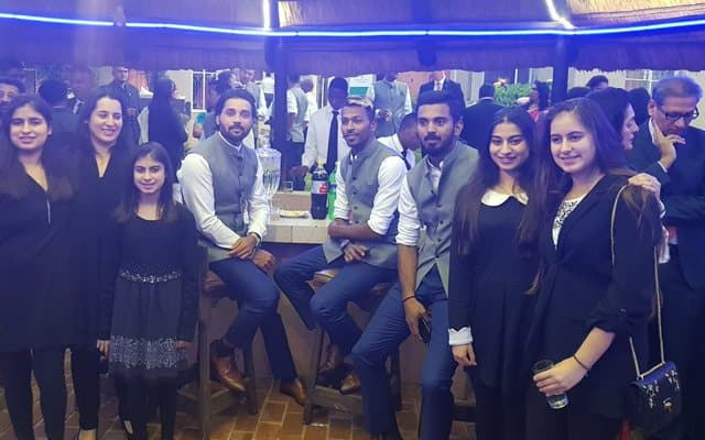 Indian players visit India House at Johannesburg