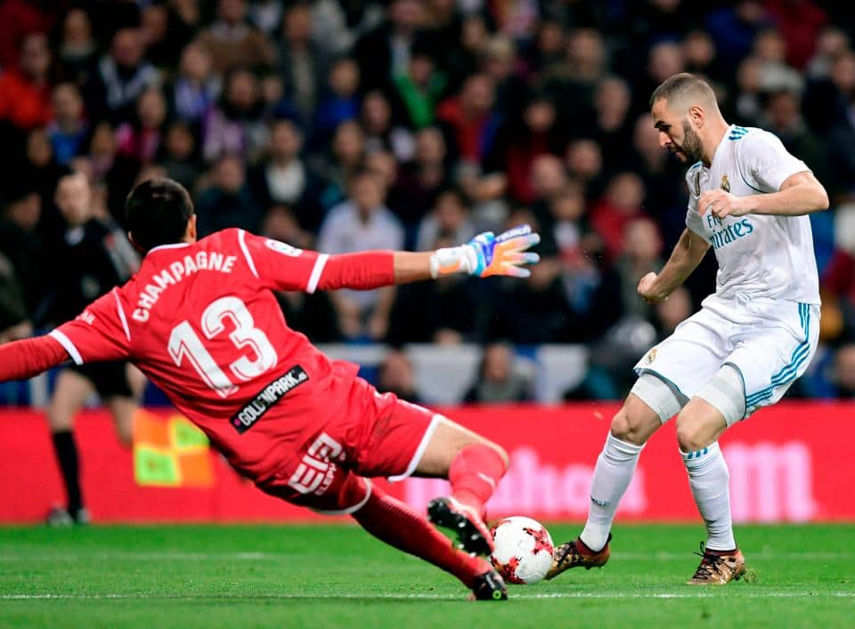 Karim Benzema clinched the equaliser in the 47th minute