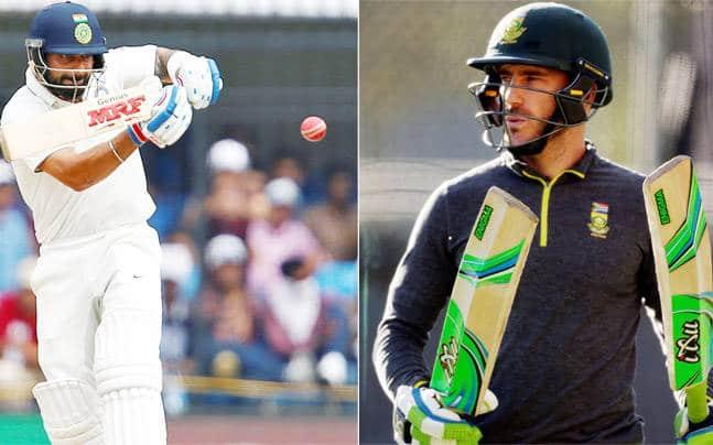 Kohli vs Faf Du Plessis