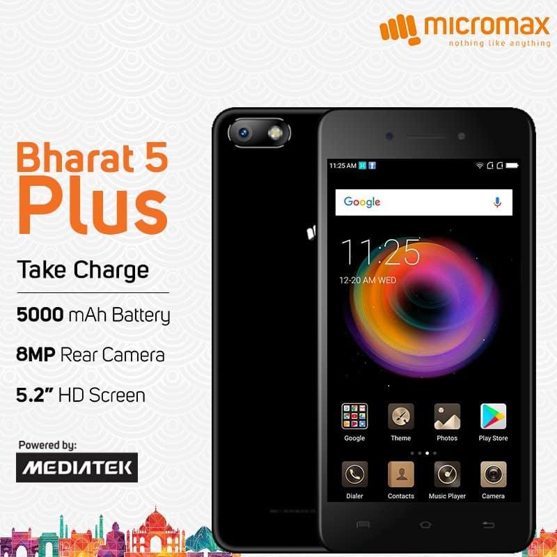 Micromax Bharat 5 Plus price