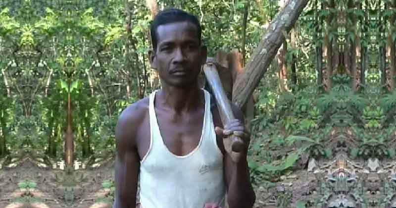 Odisha Man Broke Mountain And Carved Road For His Children's Education