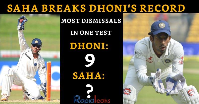 Saha Breaks MS Dhoni Record