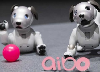 Sony Unveils Its Robo Puppy Aibo At Consumer Fair CES