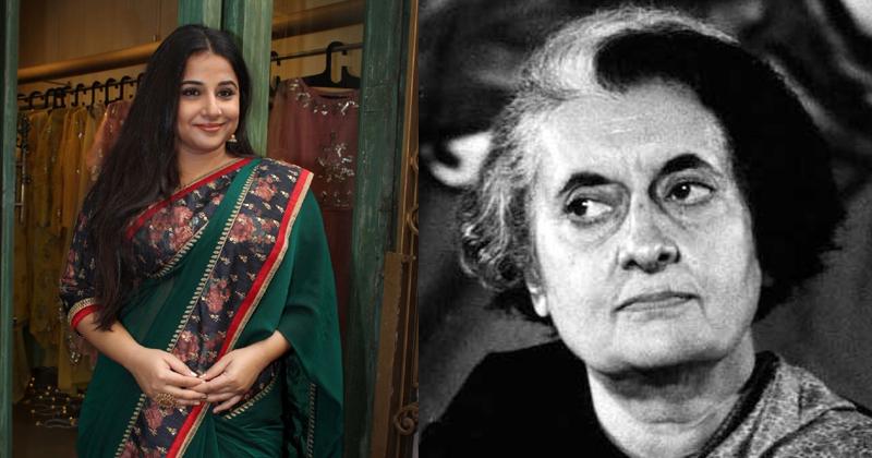 Vidya bala as Indira Gandhi