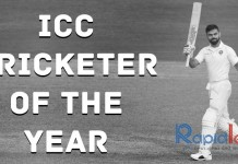 Virat Kohli ICC Cricketer of the Year 2018