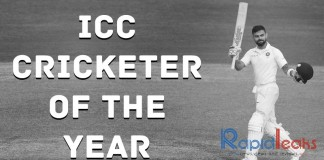 Virat Kohli ICC Cricketer of the Year 2018