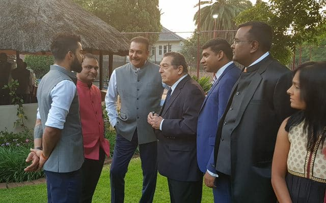 Virat Kohli & Ravi Shastri at the India House in Johannesburg