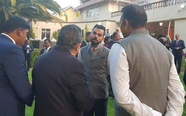 Virat Kohli at the India House in Johannesburg