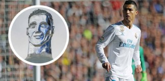 cristiano ronaldo cr7 ice sculpture