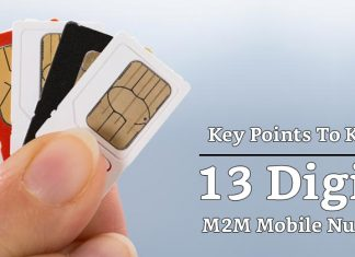13 Digits M2M Mobile Numbers With Key Points