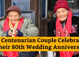 Cinese couple celebrated 80th wedding anniversary
