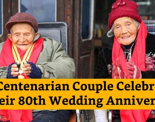 Cinese couple celebrated 80th wedding anniversary