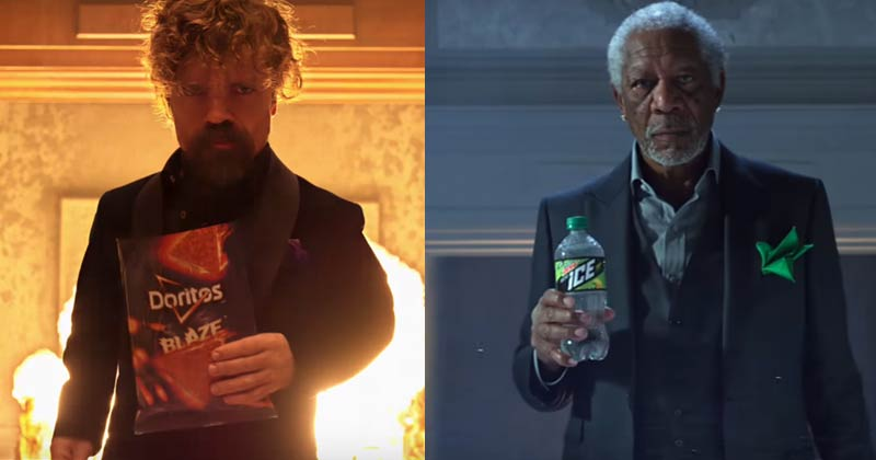 DORITOS BLAZE vs. MTN DEW ICE Super Bowl Commercial with Peter Dinklage and Morgan Freeman