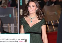 Kate Middleton Aberration Black Dress Code BAFTA 2018