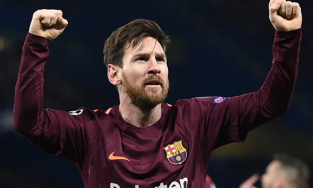 Lionel Messi's First Goal Against Chelsea In All Competitions