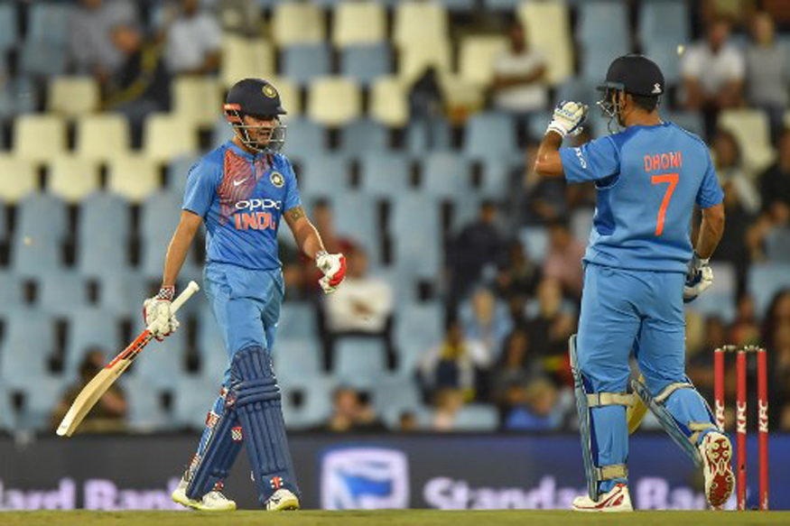 MS Dhoni and Manish Pandey stitched together a 98-run fifth wicket stand in the 2nd T20I.