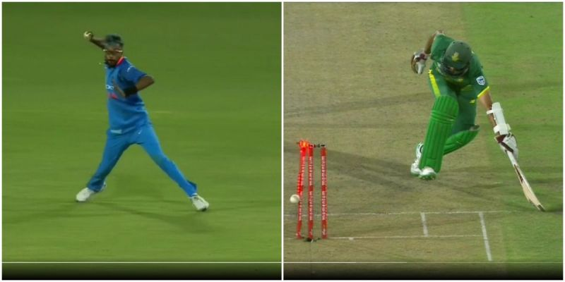 Pandya's swift pick-up and accurate throw caught Amla short of his crease by the narrowest of margins