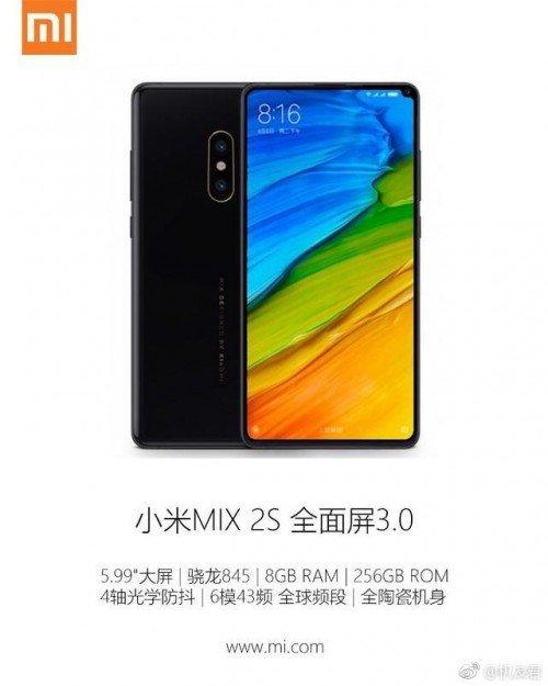 Xiaomi Mi Mix 2S price