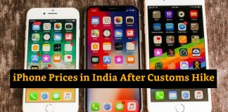 iPhone Prices in India after Customs Hike