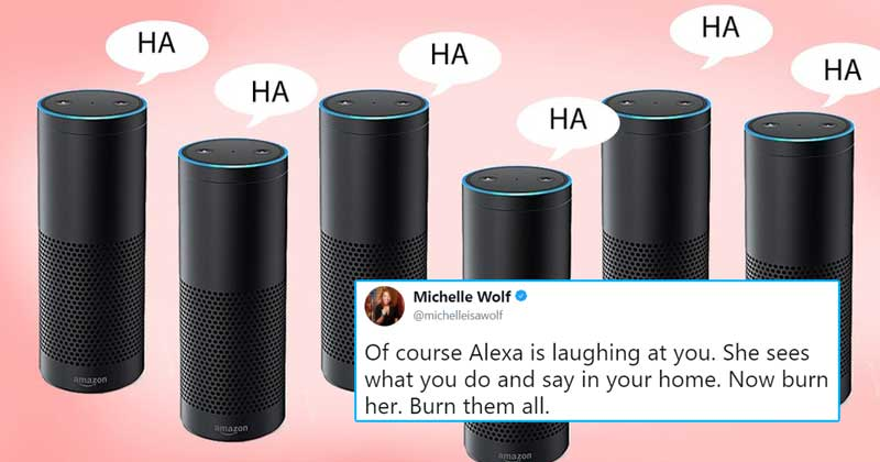 Amazon Alexa laughing