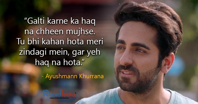 Ayushmann khurrana Shayari