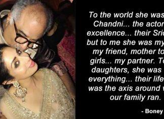 Boney Kapoor Writes A Heartfelt Note To The World On Losing Sridevi