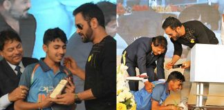 MS Dhoni in Lucknow