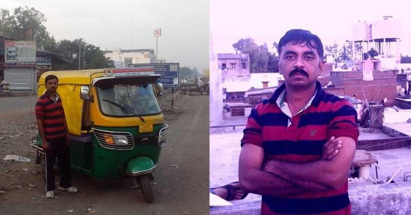 auto rickshaw driver Rajveer Upadhyay