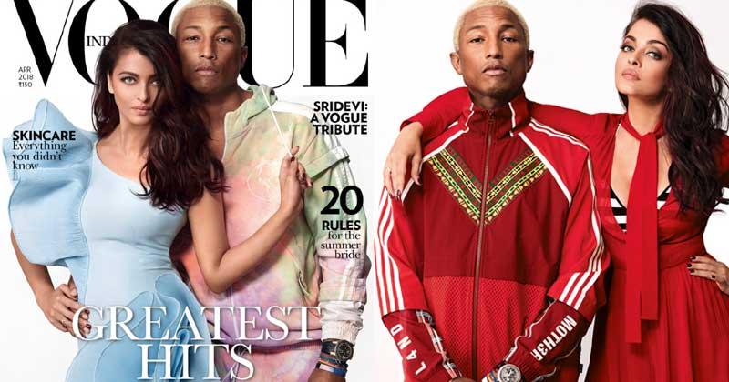 Aishwarya Rai Bachchan and Pharrell Williams Vogue Photoshoot