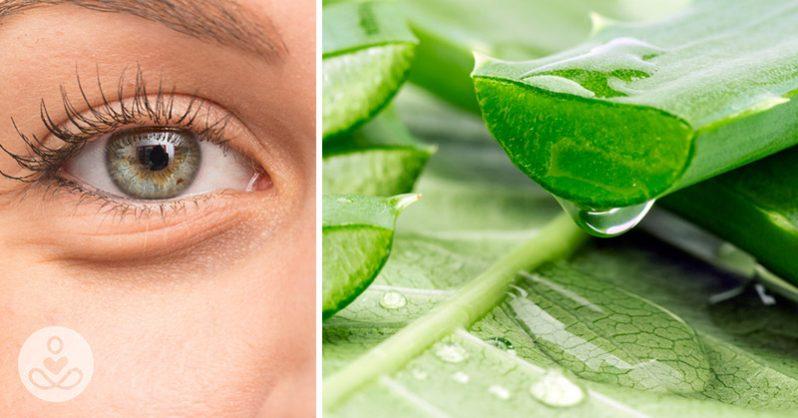 Fresh Aloe Vera Gel for puffy eyes