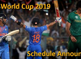 India vs Pakistan ICC World Cup 2019 Schedule