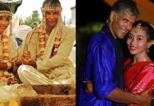 Milind Soman Ankita Konwar married