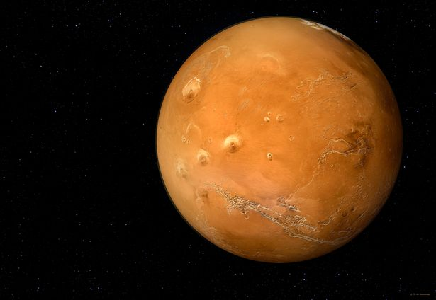 Planet Mars in universe