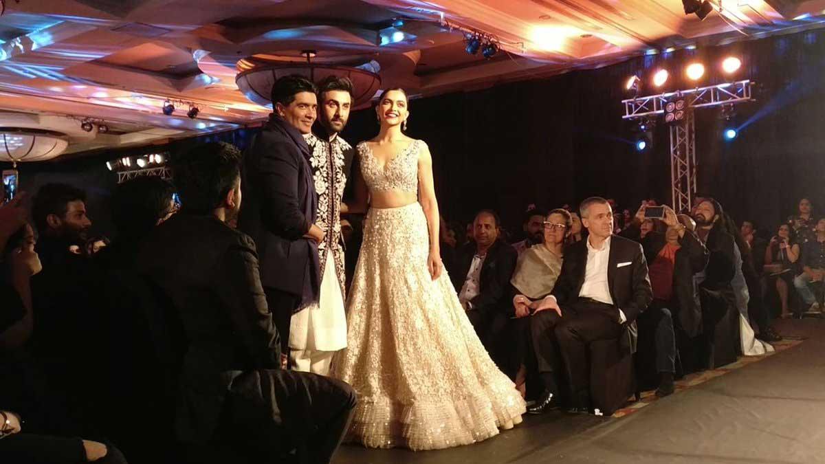 Ranbir Kapoor, Deepika Padukone and Manish Malhotra