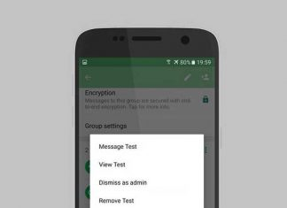 WhatsApp 'dismiss as admin' feature