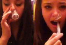 condom snorting challenge