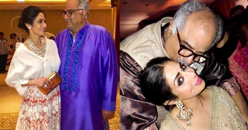 Boney Kapoor and Sridevi