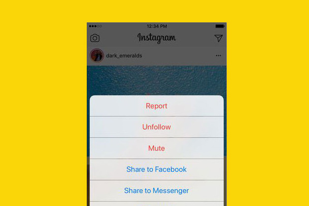 Mute feature Instagram
