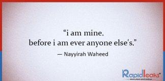 Nayyirah Waheed Poems