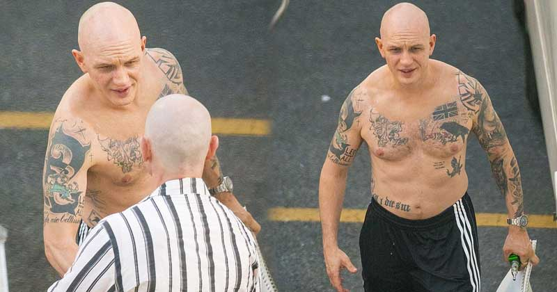 tom hardy brings massive attention shooting as al capone