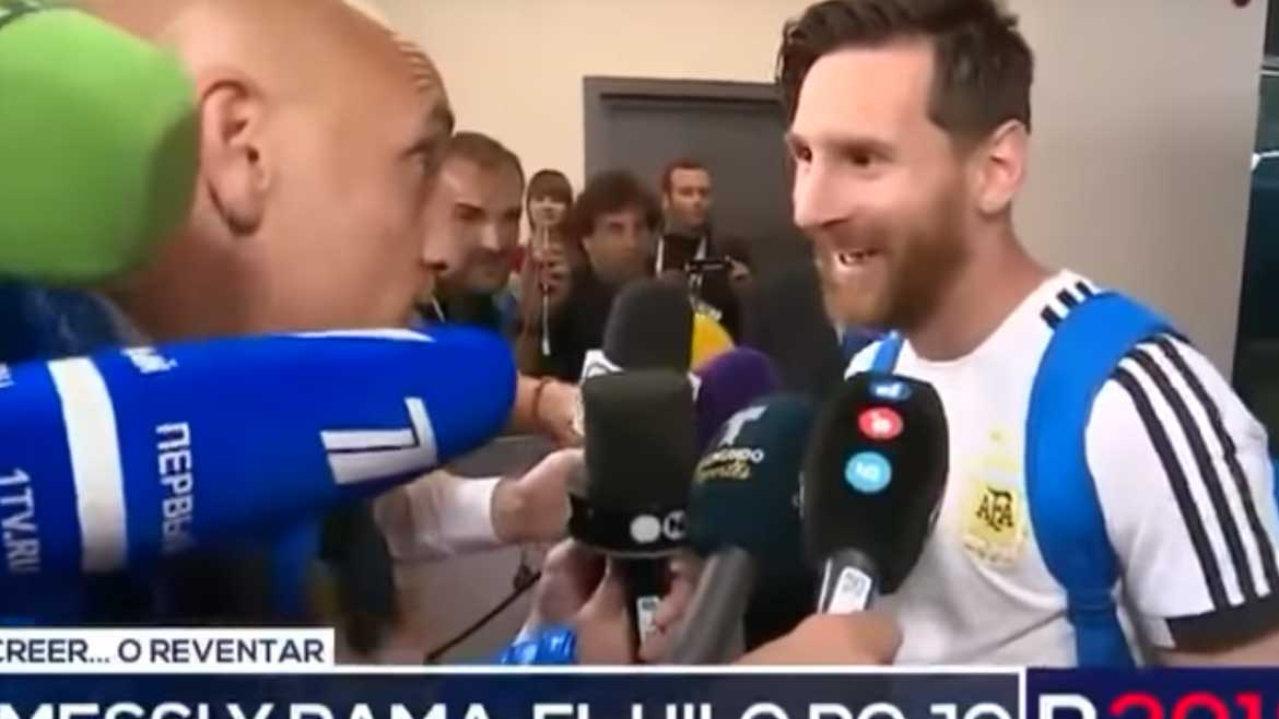 A Reporter Gave His Mother's Lucky Ribbon To Messi